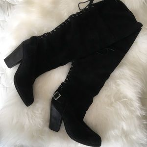 Shoemint Suede Knee High Boots
